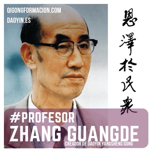 Zhang Guangde, creador de Daoyin Yangsheng Gong y Yangsheng Taiji Zhang.