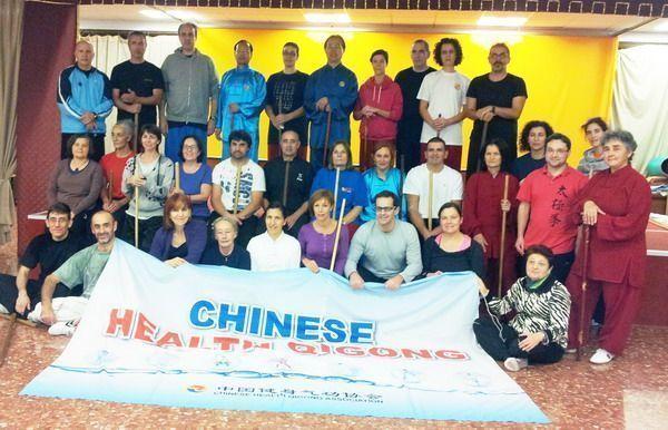 Primer curso en España de Taiji Yangsheng Zhang organizado por la Asociación Española de Qigong para la Salud e impartido por Chinese Health Qigong Association.