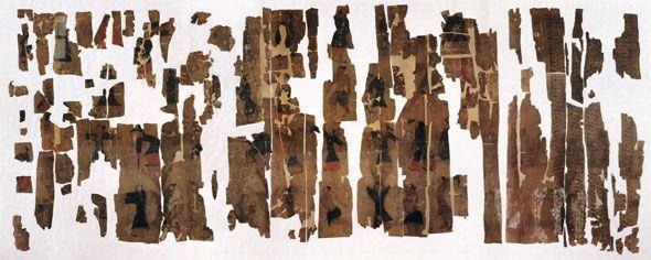 El antiguo «Mapa Daoyin Tu» de Mawangdui, pintado en una pieza de seda.