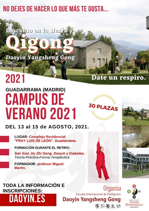 Campus de qigong 2021 en Guadarrama.